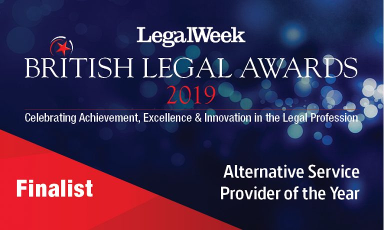 British Legal Awards Finalist - Alternative Service Provider of the Year