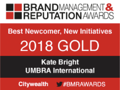 Brand Management & Reputation Awards 2018 Gold
