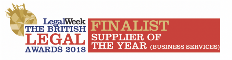 LegalWeek The British Legal Awards 2018 Finalist Supplier of the Year